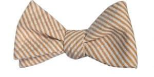 gold seersucker bow tie