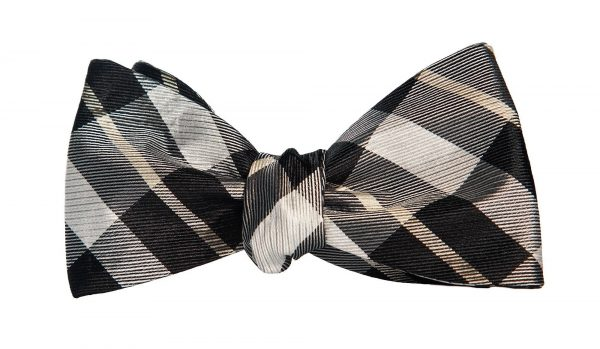 Coffeehouse Plaid Bow Tie