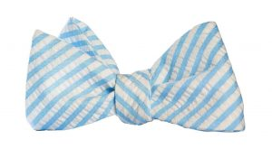Blue Seeksucker Bow Tie