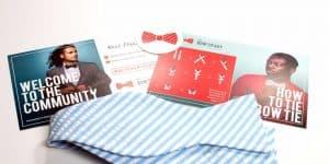 Blue Seeksucker Bow Tie