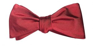 Solid Dark Red Bow Tie