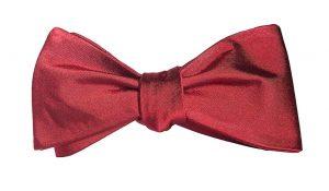 Solid Dark Red Bow Tie