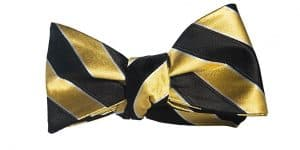 Black And Gold Stripes Bow Tie