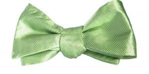 Light Green Textured Stripes Bow Tie