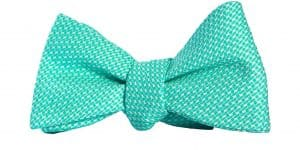 Green Textured Houndstooth Bow Tie