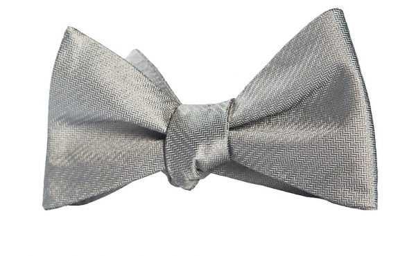 Chevron Gray Bow Tie