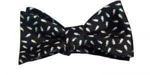 Black Micro Penguins Bow Tie