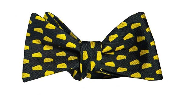 Big Black Cheese Bow Tie