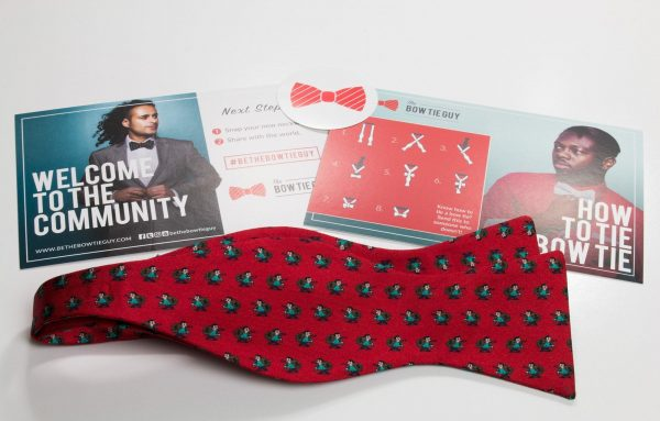 Red Mr. Money Bags Bow Tie