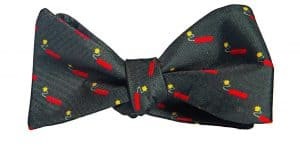 Charcoal Kaboom! Bow Tie