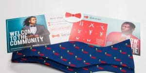 Navy Kaboom! Bow Tie