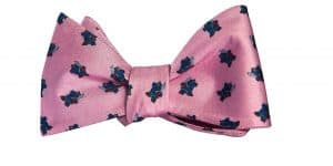 Light Pink Samurai Hippo Bow Tie