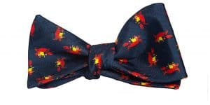 Navy King Crab Bow Tie