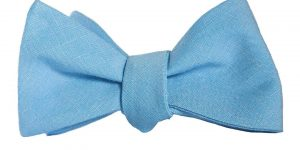 Light Blue Cotton Bow Tie