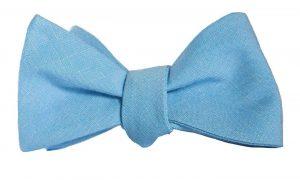 Light Blue Cotton Bow Tie