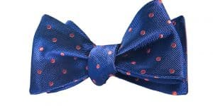 Navy and Pink Polka Dot Bow Tie
