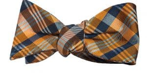 Orange Tartan Bow Tie