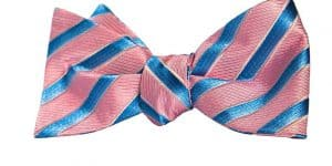 Pink Bow Tie and Blue Stripes