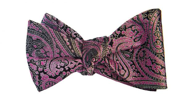 Purple Paisely Bow Tie
