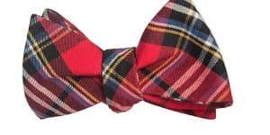 Red Tartan Bow Tie