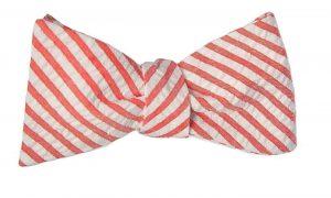 Red Seersucker Bow Tie