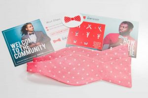 Pink and White Polka Dot Bow Tie