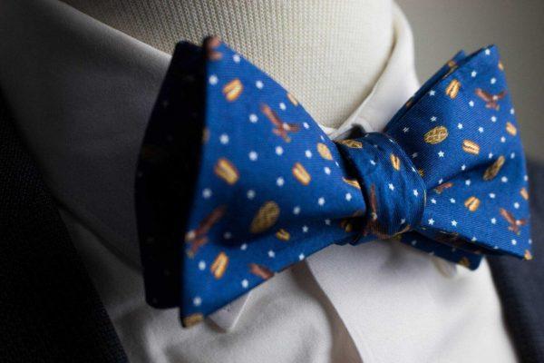 Merica's Favorite Navy Bow Tie