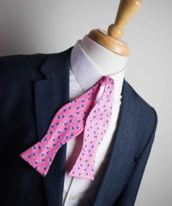 Bears on Bikes Pink Bow Tie