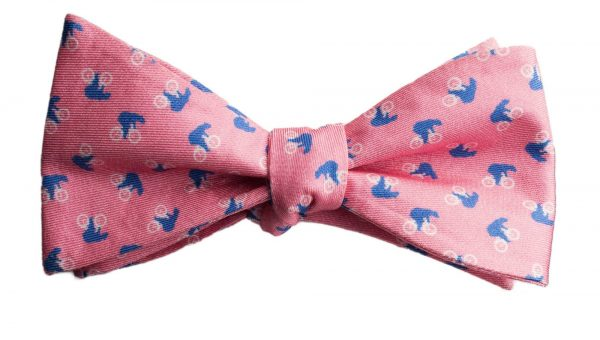 Bears on Bikes Pink Bow Tie