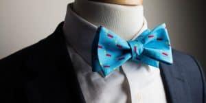 Aqua Blue Kaboom! Bow Tie