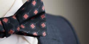 Black Bacon Sizzle Bow Tie