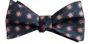 Black Bacon Sizzle Bow Tie