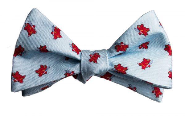 Light Blue Samurai Hippo Bow Tie