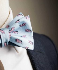 Blue When Pigs Fly Bow Tie