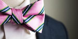 Pink Bow Tie and Green Stripes