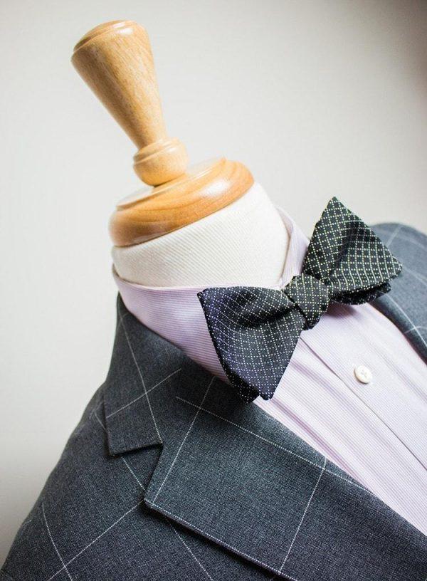 Silk Black Jacquard Bow Tie