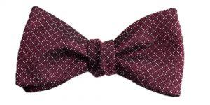 Italian Silk Burgundy Jacquard Bow Tie