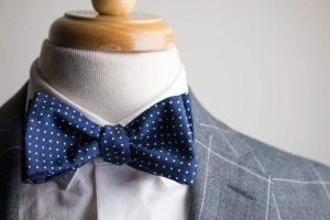 Navy Bow Ties