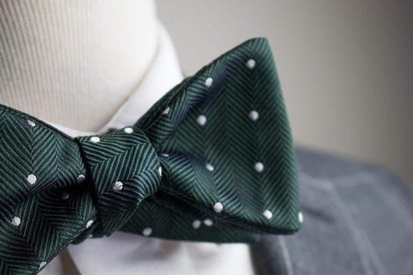 Dark Green Polka Dot Bow Tie