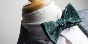 Dark Green Polka Dot Bow Tie