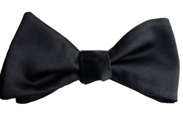 Italian Silk Black Bow Tie
