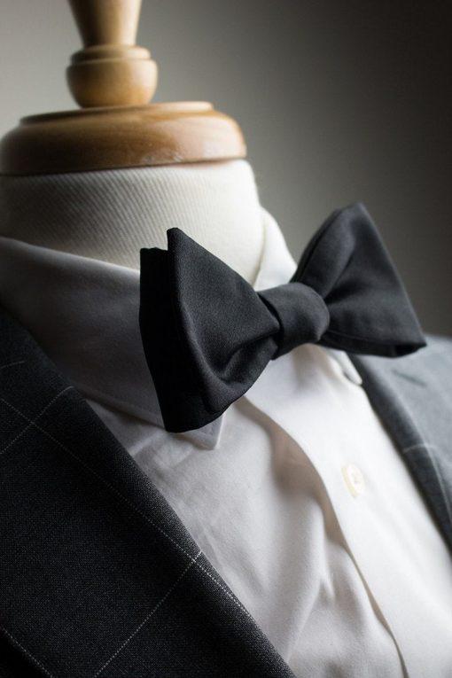 Italian Silk Black Bow Tie
