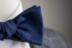 Italian Silk Navy Bow Tie