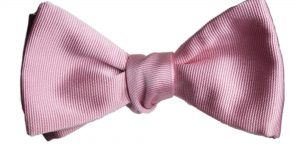 Italian Silk Pink Bow Tie