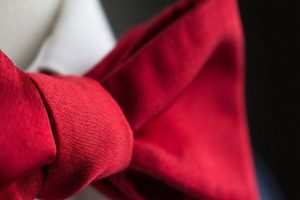 Italian Silk Red Bow Tie