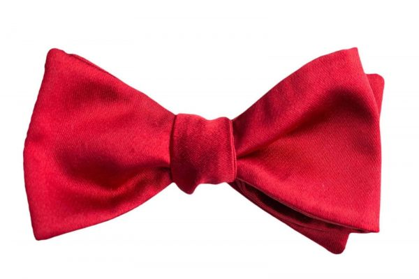 Italian Silk Red Bow Tie