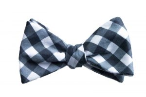 Black Gingham Bow Tie