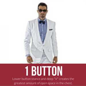bow tie with one button suit