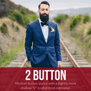 2 button suit with bow tie