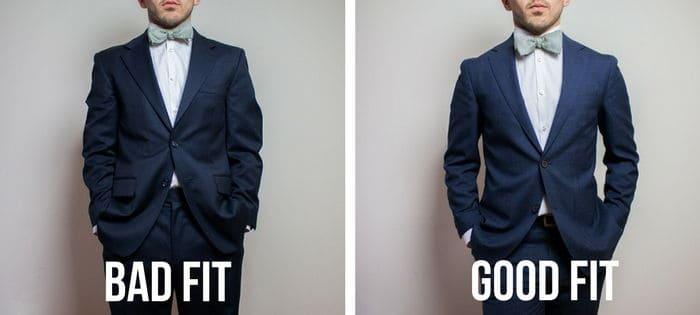 good suit fit and bad suit fit